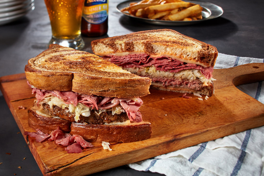Reuben-Patty-Melt-With-Sam-Summer-Ale-Beer-crop.jpg